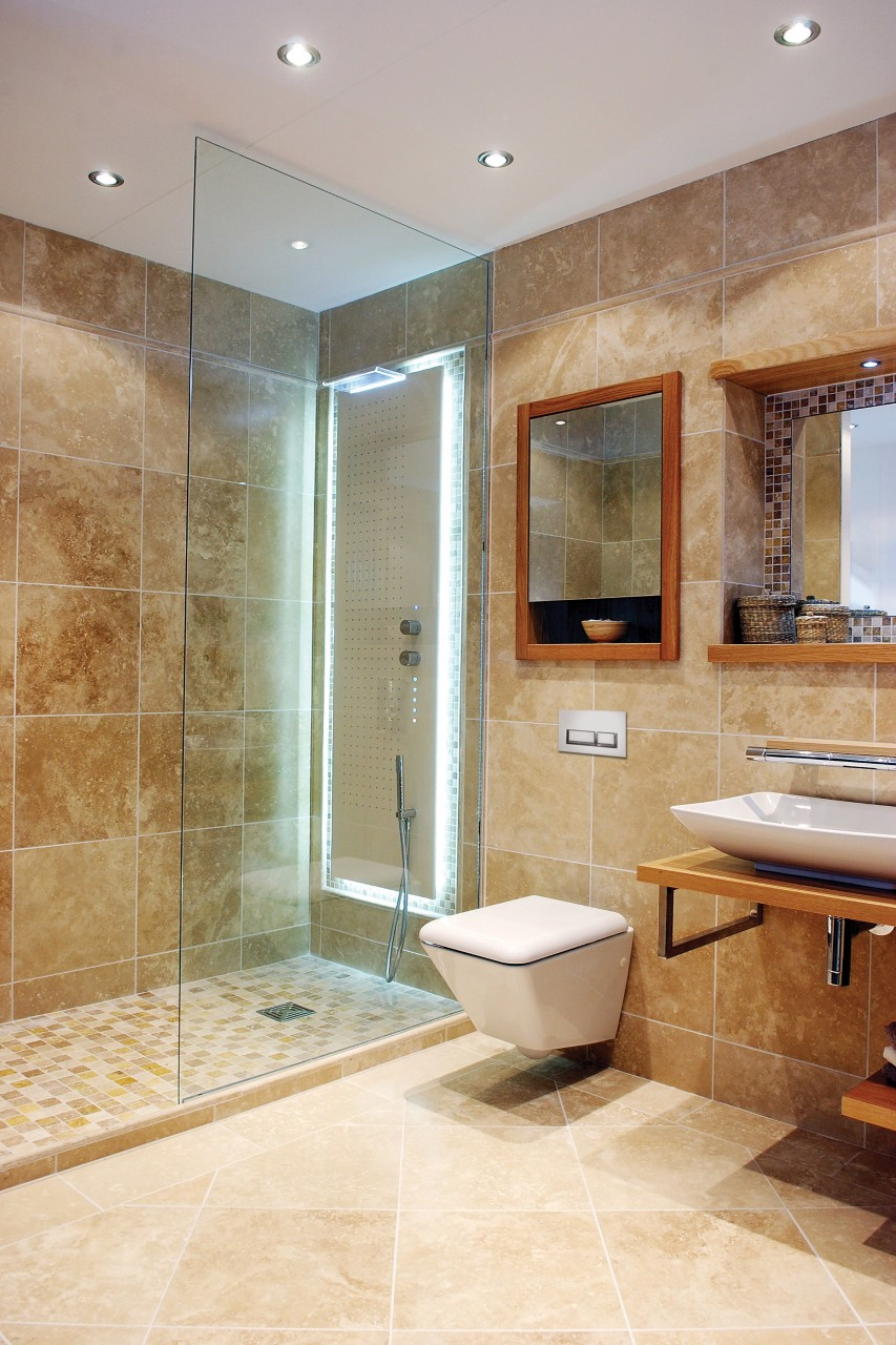 Bathrooms tcestone for Limestone tiles bathroom ideas